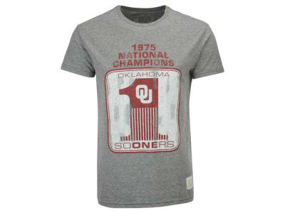 aeb0e2be3dc Oklahoma Sooners Retro Brand NCAA Men's '75 National Champ Tri-blend T-Shirt