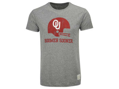 Oklahoma Sooners Retro Brand NCAA Men's Tri-Blend Helmet T-Shirt