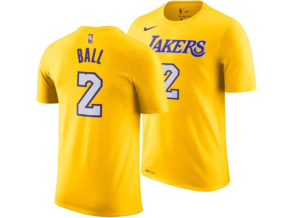 Los Angeles Lakers Lonzo Ball Nike NBA Men s Icon Player T-shirt ... c48facff3