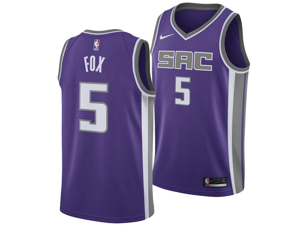 Sacramento Kings DeAaron Fox Nike NBA Men s Icon Swingman Jersey ... 3cb9004a7
