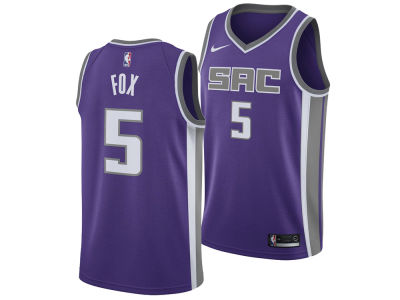 Sacramento Kings DeAaron Fox Nike NBA Men's Icon Swingman Jersey