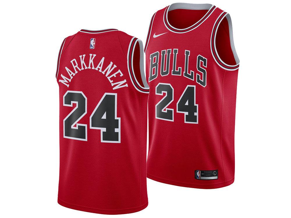 Chicago Bulls LAURI MARKKANEN Nike NBA Men s Icon Swingman Jersey 982895adb