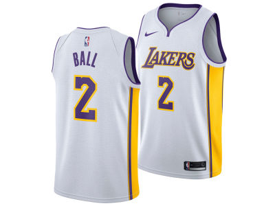 Los Angeles Lakers Lonzo Ball Nike NBA Men's Association Swingman Jersey