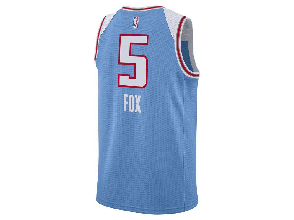 6d9f4f543 Sacramento Kings DeAaron Fox Nike NBA Men s 2017 City Swingman Jersey. Sacramento  Kings DeAaron Fox Nike NBA ...