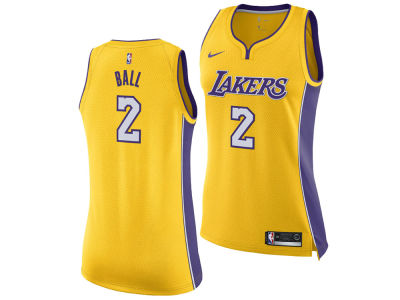 Los Angeles Lakers Lonzo Ball Nike NBA Women's Swingman Jersey