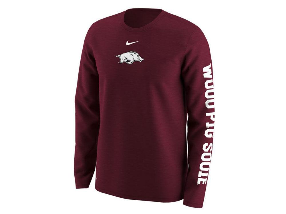 Nike Men's Arkansas Razorbacks Fresh Trainer Hook T-Shirt dOawNRIUr