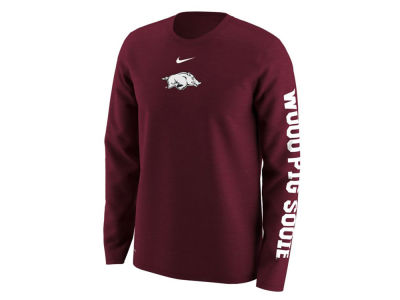 Arkansas Razorbacks Nike NCAA Men's Fresh Trainer Hook Long Sleeve T-Shirt
