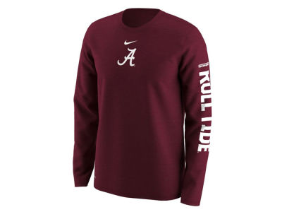 Alabama Crimson Tide Nike NCAA Men's Fresh Trainer Hook Long Sleeve T-Shirt