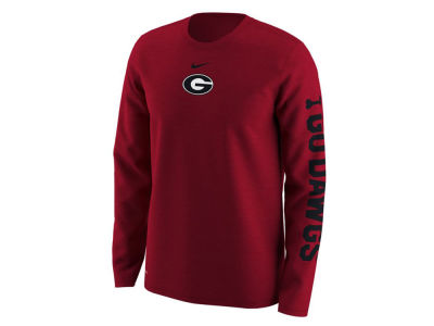 Georgia Bulldogs Nike NCAA Men's Fresh Trainer Hook Long Sleeve T-Shirt