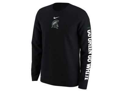 Michigan State Spartans Nike NCAA Men's Fresh Trainer Hook Long Sleeve T-Shirt