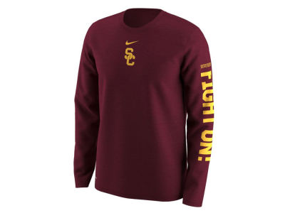 USC Trojans Nike NCAA Men's Fresh Trainer Hook Long Sleeve T-Shirt