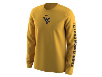 West Virginia Mountaineers Nike NCAA Men's Fresh Trainer Hook Long Sleeve T-Shirt