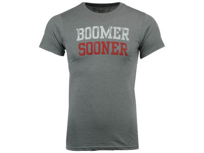 Oklahoma Sooners Retro Brand NCAA Men's Chalk Talk Dual Blend T-Shirt