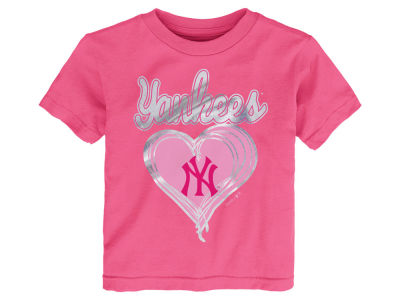 New York Yankees MLB Toddler Girls Unfoiled Love T-Shirt