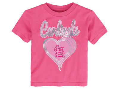 St. Louis Cardinals Majestic MLB Toddler Girls Unfoiled Love T-Shirt
