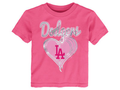 Los Angeles Dodgers MLB Toddler Girls Unfoiled Love T-Shirt