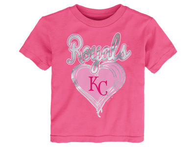 Kansas City Royals MLB Toddler Girls Unfoiled Love T-Shirt