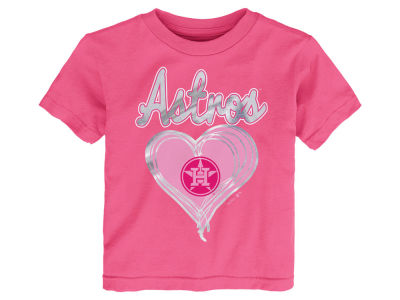 Houston Astros MLB Toddler Girls Unfoiled Love T-Shirt