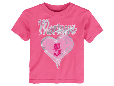 Seattle Mariners MLB Toddler Girls Unfoiled Love T-Shirt