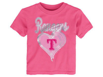 Texas Rangers MLB Toddler Girls Unfoiled Love T-Shirt