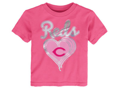 Cincinnati Reds MLB Toddler Girls Unfoiled Love T-Shirt
