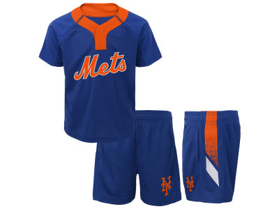 New York Mets Majestic MLB Toddler Ground Rules Short Set
