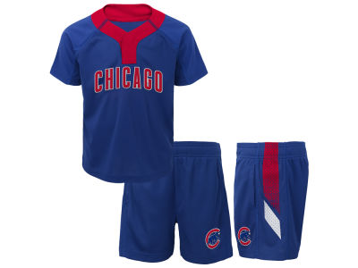 Chicago Cubs Majestic MLB Toddler Ground Rules Short Set
