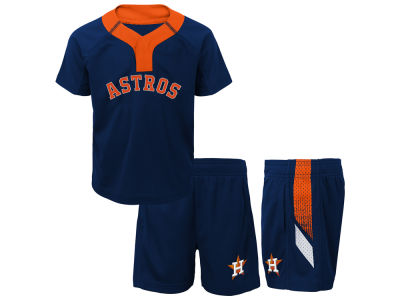 Houston Astros Majestic MLB Toddler Ground Rules Short Set