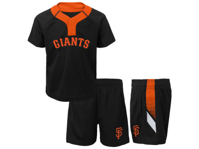 San Francisco Giants Majestic MLB Toddler Ground Rules Short Set