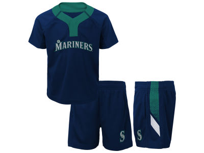 Seattle Mariners Majestic MLB Toddler Ground Rules Short Set