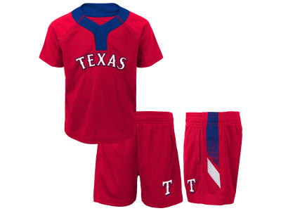 Texas Rangers Majestic MLB Toddler Ground Rules Short Set