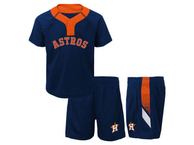Houston Astros Majestic MLB Infant Ground Rules Short Set
