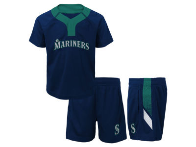 Seattle Mariners Majestic MLB Infant Ground Rules Short Set