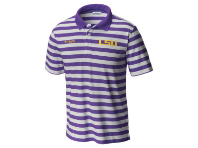 LSU Tigers Columbia NCAA Men's Super Low Drag Polo