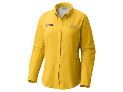 LSU Tigers Columbia NCAA Women's Long Sleeve Tamiami Shirt