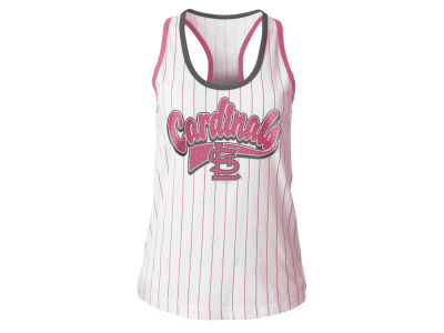 St. Louis Cardinals 5th & Ocean MLB Girls Pink Pinstripe Tank