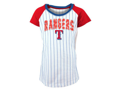 Texas Rangers 5th & Ocean MLB Girls Sequin Pinstripe T-Shirt