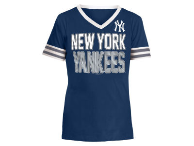 New York Yankees 5th & Ocean MLB Girls Rhinestone T-Shirt