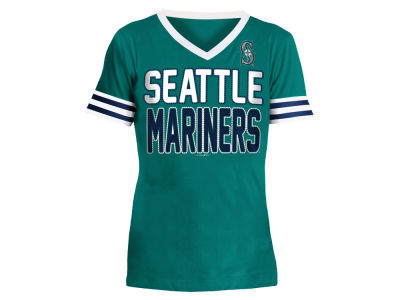 Seattle Mariners 5th & Ocean MLB Girls Rhinestone T-Shirt