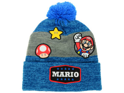 Nintendo Mario Patches Cuff Pom Knit