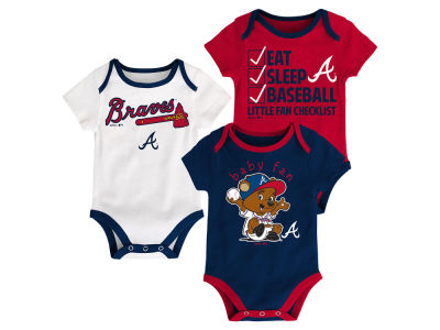 Atlanta Braves MLB Newborn Play Ball 3 Piece Set