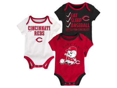 Cincinnati Reds Majestic MLB Newborn Play Ball 3 Piece Set