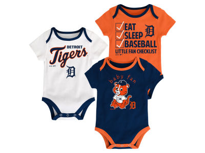 Detroit Tigers Majestic MLB Newborn Play Ball 3 Piece Set