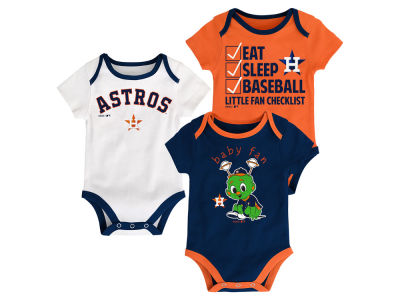 Houston Astros Majestic MLB Newborn Play Ball 3 Piece Set