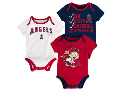 Los Angeles Angels MLB Newborn Play Ball 3 Piece Set