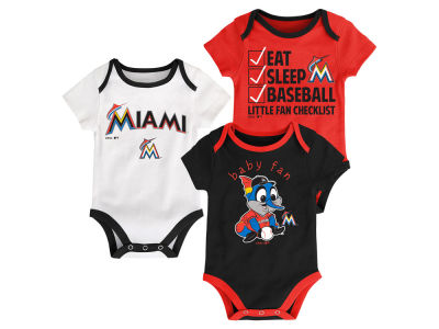Miami Marlins MLB Newborn Play Ball 3 Piece Set