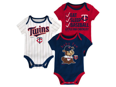 Minnesota Twins Majestic MLB Newborn Play Ball 3 Piece Set