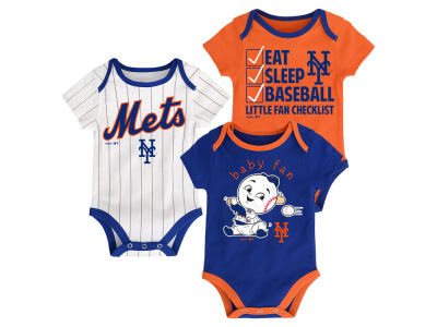 New York Mets MLB Newborn Play Ball 3 Piece Set