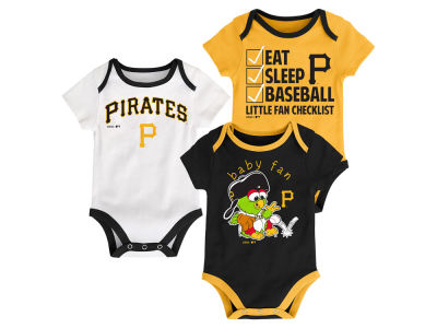 Pittsburgh Pirates Majestic MLB Newborn Play Ball 3 Piece Set