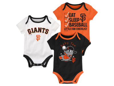 San Francisco Giants Majestic MLB Newborn Play Ball 3 Piece Set